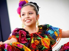 Girl dancing at La Plaza de Cultura y Artes