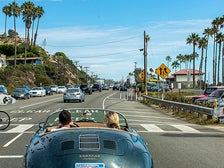 Driving down PCH in a convertible