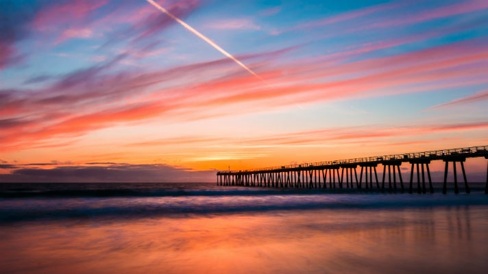 Hermosa Beach Pier at sunset