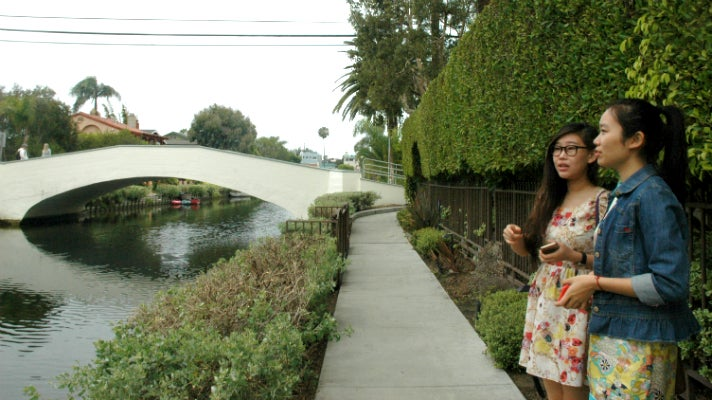 Susanna Niu and Sally Guo at the Venice Canals