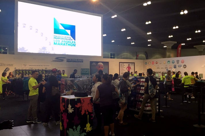 Skechers Performance Los Angeles Marathon booth at the Health & Fitness Expo