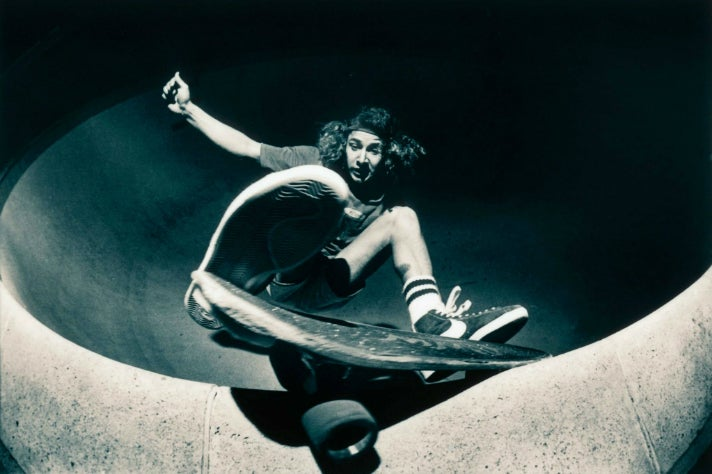 Iconic photo of Tony Alva by Wynn Miller