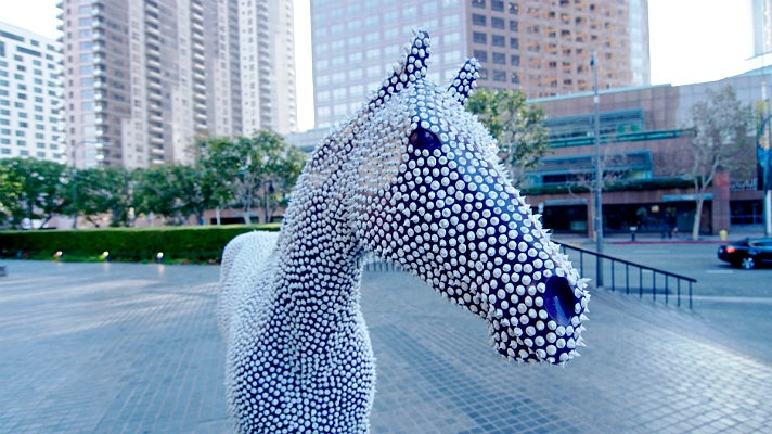 """Prickles"" by Andre Miripolsky at Bank of America Plaza"