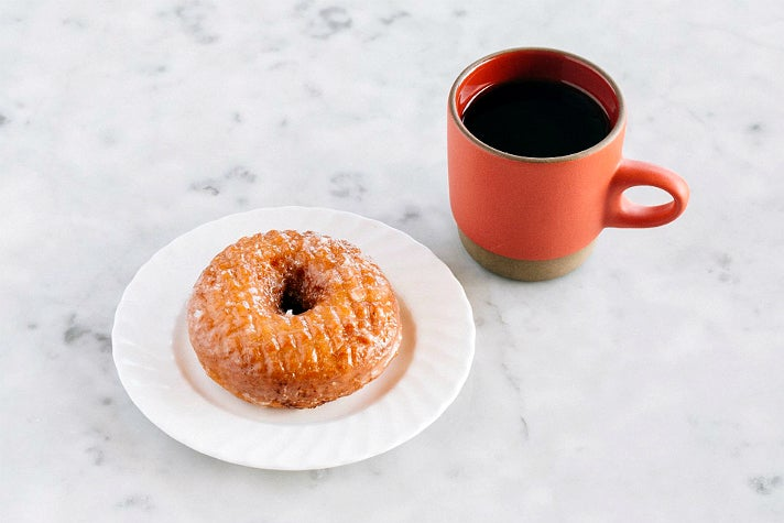 Butter & Salt doughnut with Stumptown coffee