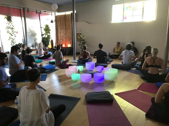 Siesta Yoga sound bath in session l Photo courtesy of Siesta Yoga
