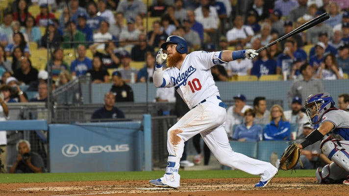 Justin Turner at bat