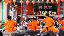 Shaolin martial arts at Chinese New Year Festival in Chinatown