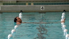 "Don in the NYAC pool from ""Mad Men"" Season Four"