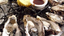 Fanny Bay oysters at Comme Ça