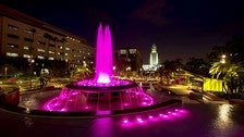 Arthur J. Will Memorial Fountain at Grand Park