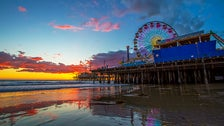 Santa Monica Pier at sunset