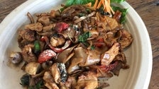 Pad kee mow at Sticky Rice II in Grand Central Market