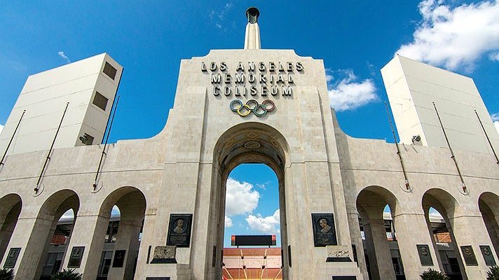 Los Angeles Memorial Coliseum peristyle