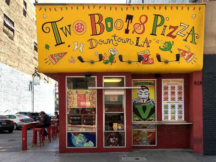 Two Boots Pizza in Downtown L.A.