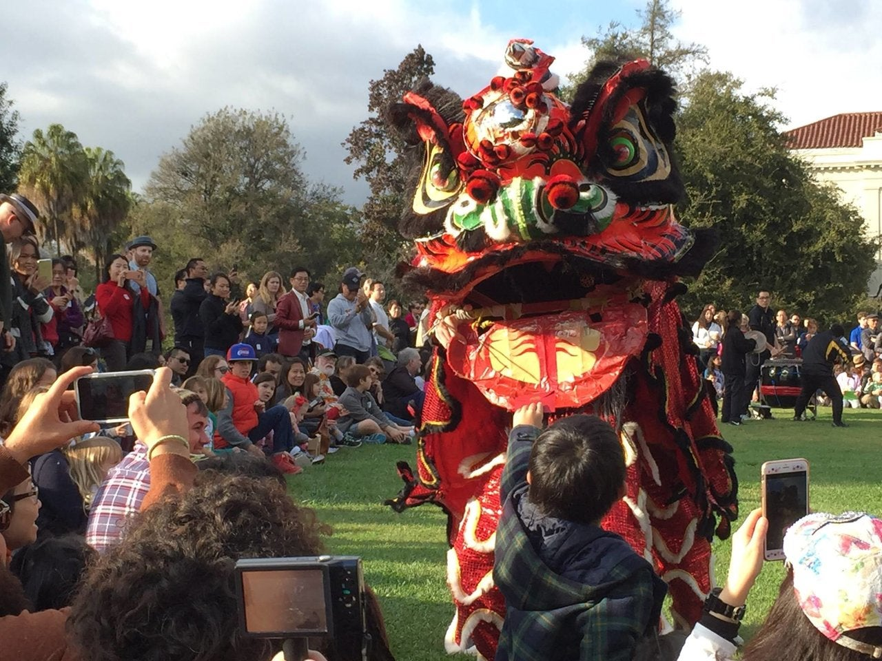 Lion dancer at the Chinese New Year Festival at The Huntington Library